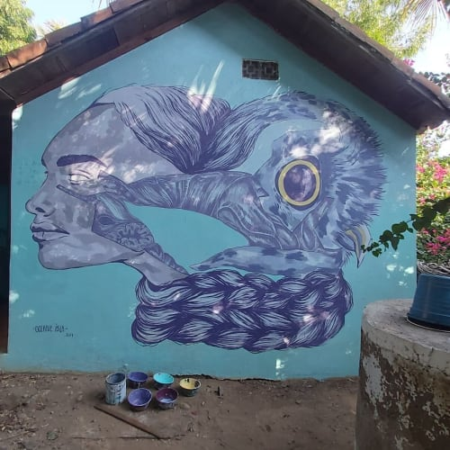Murals by Oceane Isla seen at Private Residence, Puerto Escondido - Transformation