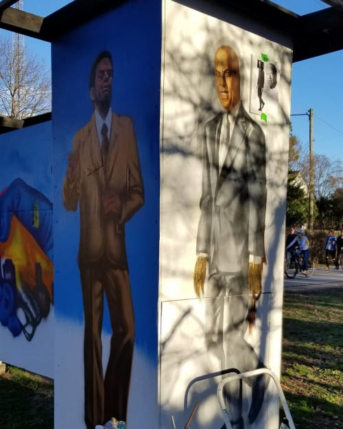 Street Murals by Occasional Superstar seen at Piedmont Park, Atlanta - Atlanta Mayors