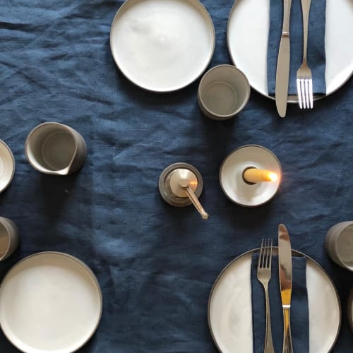 Ceramic Plates by Apostrophe Ceramics seen at Private Residence, London - Dinner set