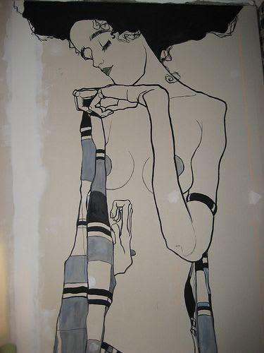 Murals by Anna-Lisa Notter seen at Private Residence, Seattle - Egon Schiele