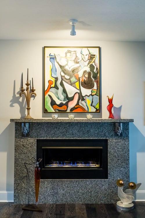 Interior Design by Dylan Beck seen at Private Residence, Lancaster - Columnar Basalt Corbels