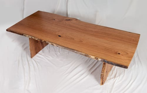 Tables by Local Wood seen at Private Residence, Leesburg - Live Edge Cherry table