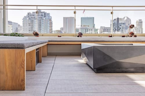 Benches & Ottomans by Moniker Design seen at 1810 State Street, San Diego - Custom Outdoor Bench