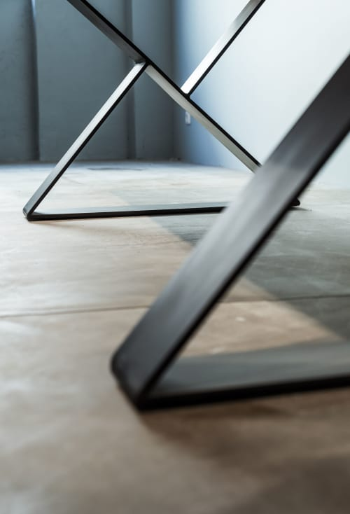 "Tables by Berlin Moebel Design seen at Chemnitzer Str. 11, Berlin - Dining Table ""Carpe"""
