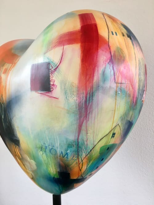 Heart Sculpture in Doha/Qatar   Art Curation by Bea Garding Schubert   Private Office in Doha