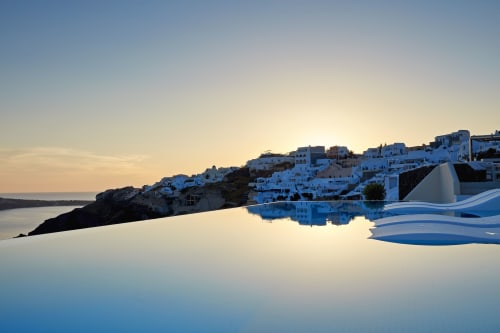 Furniture by GANDIABLASCO seen at Canaves Oia Hotel, Οία - Canaves OIA Outdoor Furniture