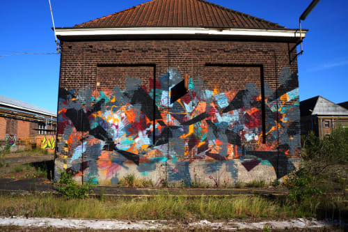 Street Murals by Time Dobbs seen at Private Residence, Ghent - WPMQ+P4