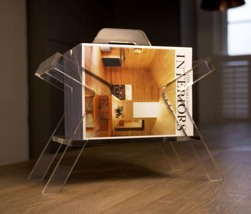 Furniture by CHARLIE CAFFYN FURNITURE seen at Private Residence - Farleigh Clear Magazine Rack