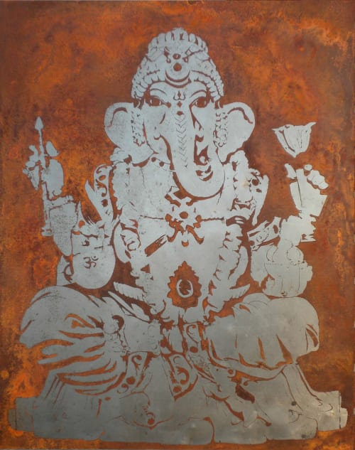 Wall Hangings by Req. Art seen at Private Residence, San Francisco - Ganesha