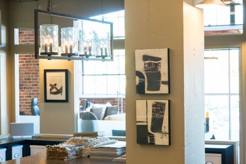 Paintings by Melanie Grein seen at Ashley Campbell Interior Design, Denver - Painting Installations