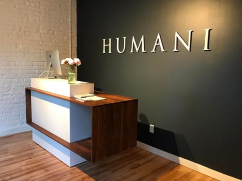 Furniture by Steve Tiller seen at Humani Pilates Studio, Sacramento - Reception Desk