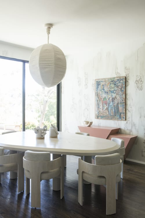 Chairs by Cuff Studio seen at Private Residence, Los Angeles - Rope Wrapped Globe