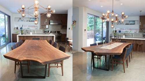 Tables by FineRoot seen at Private Residence, Marin County - Live Edge Slab Table