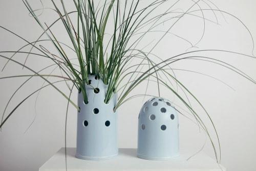 Vases & Vessels by Krafla seen at Krafla Studio, Kraków - Fly's Eye Vase | big / blue