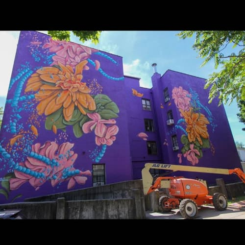 Murals by Emilio Florentine seen at Jersey City, Jersey City - That Hudson River Breeze