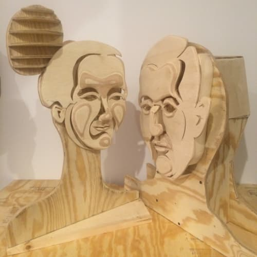 Sculptures by Sean Slaney seen at Hotel ZaZa Museum District, Houston - Lovers