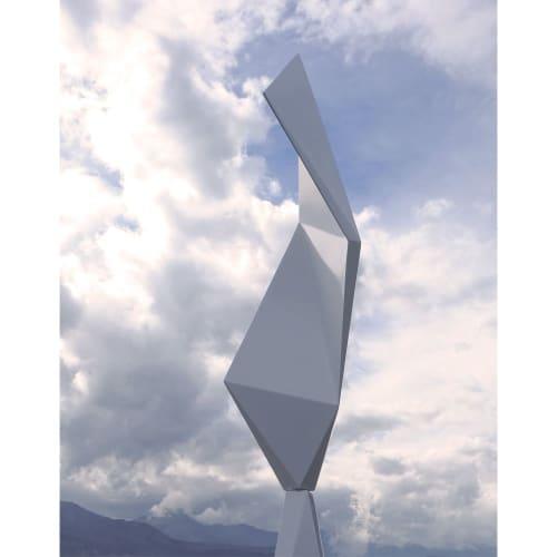 Public Sculptures by Ben Foster Sculpture seen at Creator's Studio, Kaikōura - Grounding