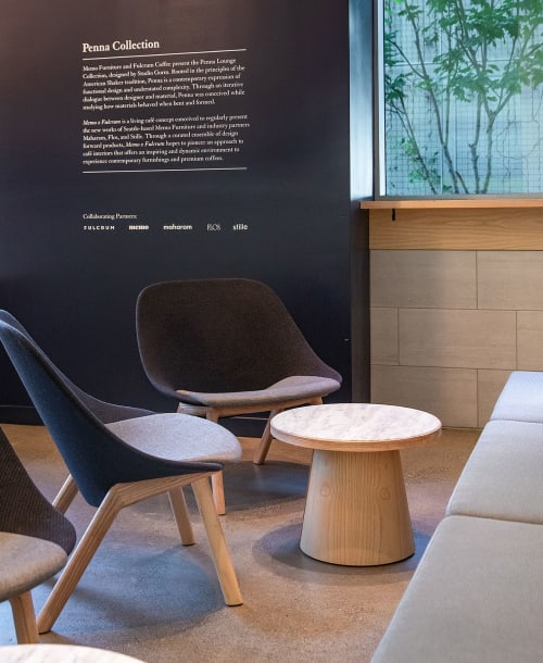 Chairs by Memo Furniture seen at Fulcrum Café, Seattle - Penna Lounge
