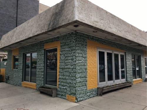 Murals by Colt Seager seen at Mott St, Chicago - Colt Seager Mural for Mott Street