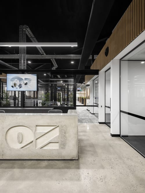 Interior Design by Studio Nine Architects seen at OZ Minerals, Adelaide Airport - OZ Minerals Head Office