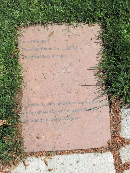 Public Sculptures by Wingren Sculpture seen at University of Colorado Boulder, Boulder - Swedish Black Granite Standing Stone #2