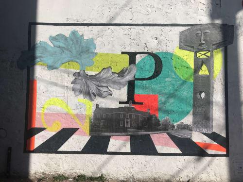 Street Murals by Cory Bernat seen at 829 Upshur St NW, Washington - Mural for Petworth Community Wall