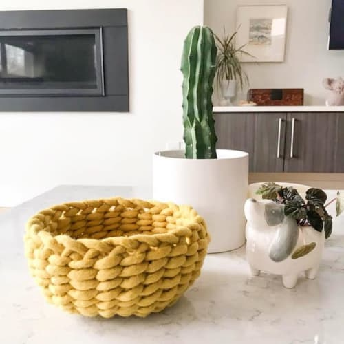 Art & Wall Decor by Flax & Twine seen at Private Residence, Oakland - Felted Wool Twined Woven Bowl