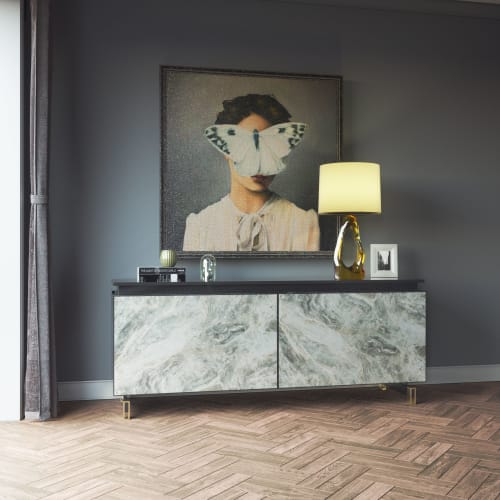 Furniture by IvaDecorStudio seen at Private Residence, New York - Custom Credenza Upcycle