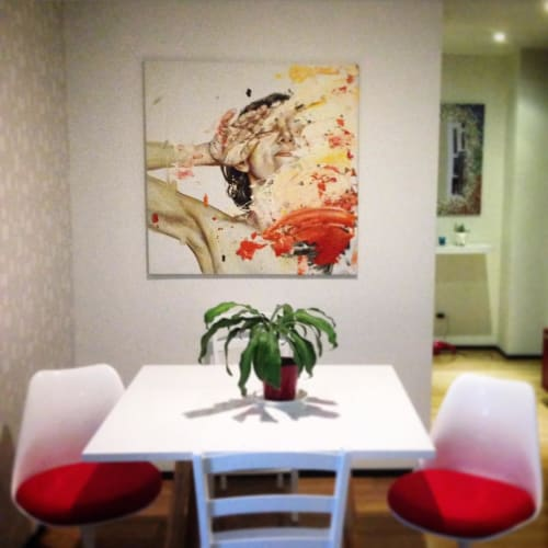 Paintings by Cesar Biojo seen at Private Residence, Barcelona - Estuche 15