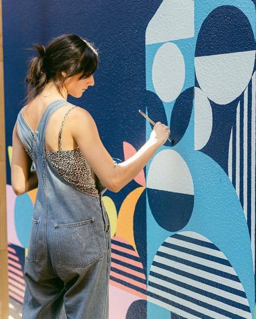 Street Murals by Alexandra Bellas seen at Peel Street, Adelaide - Bombay Sapphire mural