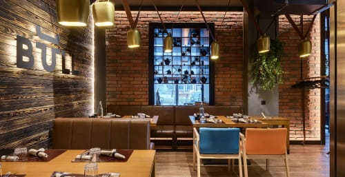 Pendants by YUDIN Design seen at Bull Butcher and Wine, Zaporizhzhia - Bell Light