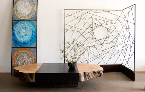 Tables by Andre Joyau seen at Brooklyn - Private Residence, Brooklyn - Natural End Coffee Table