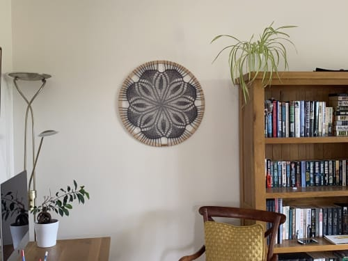 Wall Hangings by Woolly Fingers seen at Private Residence, Bishampton - Crochet wall mandala