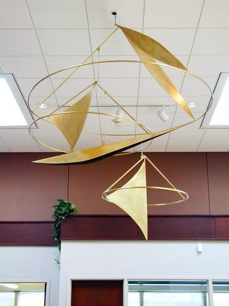 Sculptures by Leslie Bruning seen at Lake regency building, Omaha - Sails