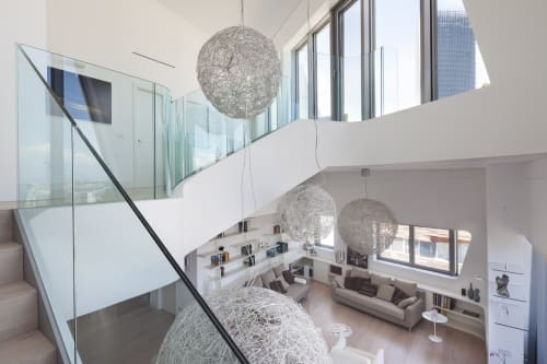 Pendants by Catellani & Smith at Residenze Hadid's Penthouse Flats, Milano - Fil de Fer