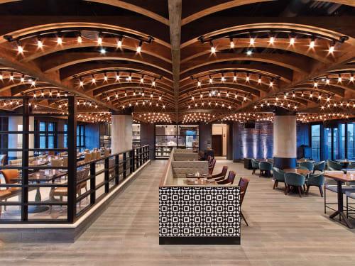 Chandeliers by Laspec Lighting -- Custom Lighting, Made in LA at Kimpton Hotel Van Zandt, Austin - Geraldines at Van Zandt