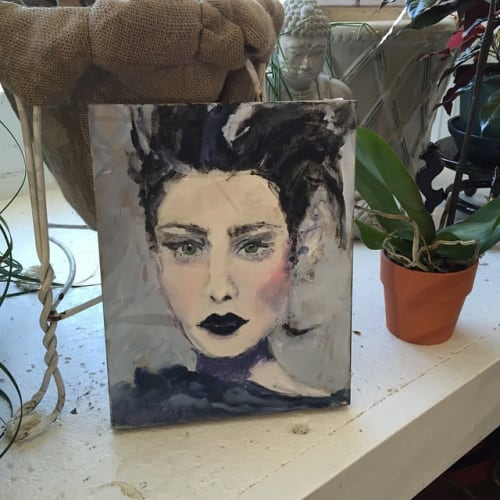 Paintings by Sandy Welch Art seen at Private Residence, West Hartford - Green Eyes