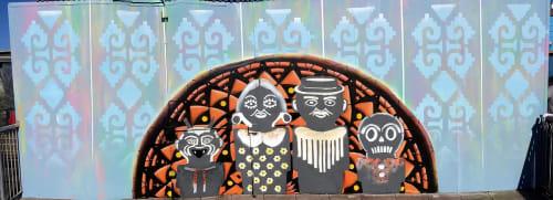 Murals by Max Ehrman (Eon75) seen at El Techo, San Francisco - El Techo Mural