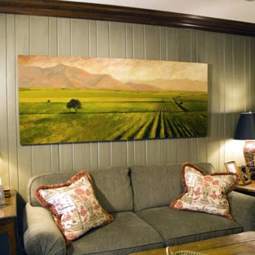 "Paintings by Thomas Andrew Art seen at Private Residence, Mountain Brook - ""Vineyard in the Valley"""
