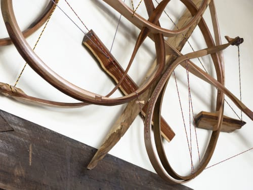 Sculptures by Oliver Clark - We Are Clark Studios seen at Private Residence, Breckenridge - Iliad #1 Wooden Curvilinear Abstract Sculpture
