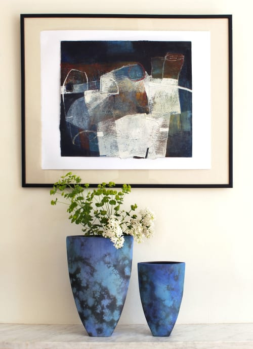 Vases & Vessels by Tessa Wolfe Murray seen at Private Residence, Brighton - 'Deep Sea' Vases