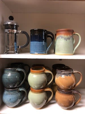 Cups by TR Pottery LLC seen at Private Residence, Al Rideem - mugs