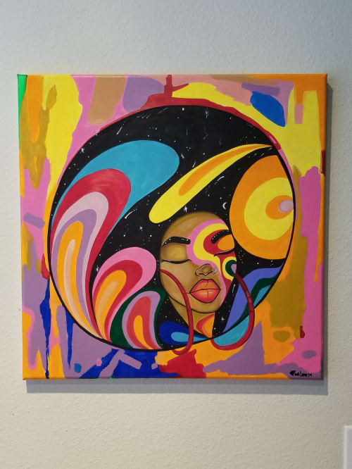 Art & Wall Decor by Pinklomein seen at Private Residence, Houston - Afro Dreams