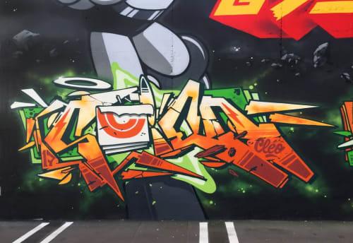Street Murals by 123Klan seen at Los Angeles, Los Angeles - Graffiti