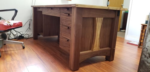 Tables by Scurfield WoodWorks seen at Blue Ridge Mercedes, Lilburn - Executive Desk