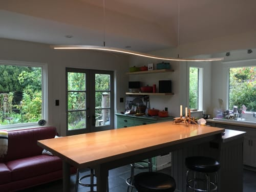 Pendants by Kurva Design seen at Private Residence, Victoria - S-Light