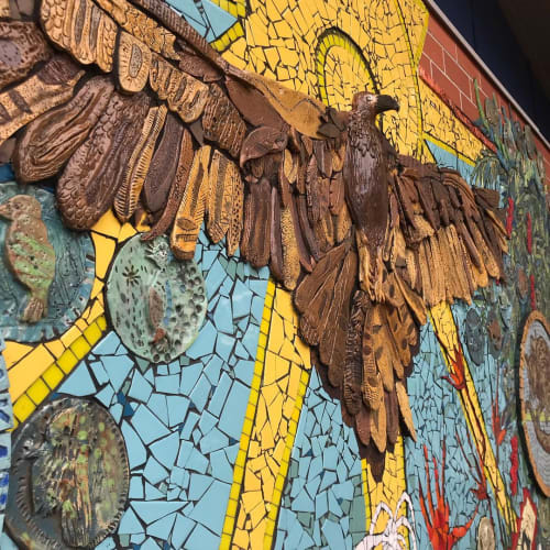Public Mosaics by Jane du Rand seen at St Augustine's College, Augustine Heights - Ceramic Mosaic Mural