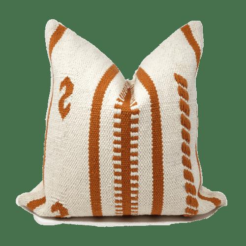 Pillows by Coastal Boho Studio seen at Destin, Destin - Zanya Pillow Cover - BURNT ORANGE
