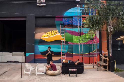 Street Murals by Kajaman seen at Proja, Vila Nogueira - Amadurecimento