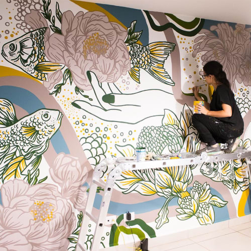 Murals by Majo Rodríguez seen at Private Residence - Commissioned Mural